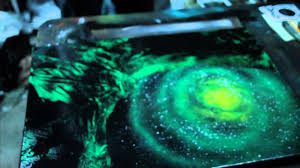 green galaxy spray paint demo by markus fussell youtube