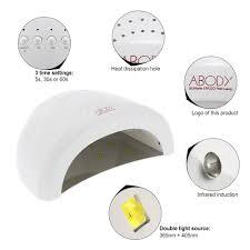 abody sunone led uv lamp nail polish dryer gel curing white light