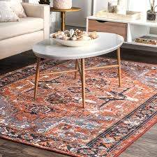 Rust Area Rug Nuloom Traditional Vintage Fancy Floral Rust Area Rug 8 2 X 10