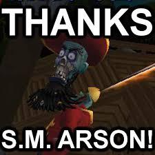 Sm Meme - mlp meme in pirate101 thanks s m arson by christophr1 on deviantart