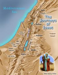 map ot map of the journeys of isaac bible history