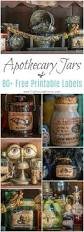 apothecary jars and free printable labels apothecary jars decor