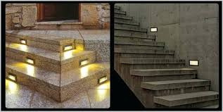outdoor stair lights led lot outdoor led stairs recessed wall