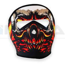 half skull mask halloween neoprene skeleton half full face skull mask motorcycle motor bike