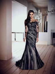 black wedding black wedding dresses with lace sleeves naf dresses