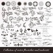 decorative ornaments collection vector premium