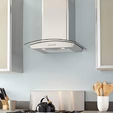 kitchen design ideas stainless steel wall mount range hood