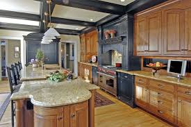 kitchen amazing long kitchen design with large wooden kitchen