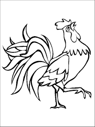 rooster colouring in rooster farm animal coloring pages for kids