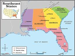 map usa southeast free printable maps of the southeastern us map of southeast us