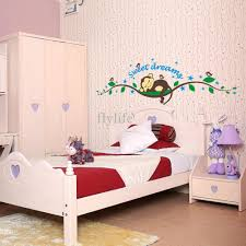 sleeping monkey removable children room wall sticker art color colorful