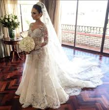 classic wedding dresses classic lace a line wedding dress 2018 sleeve with flowers