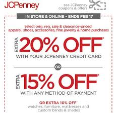 in store u0026 online extra 20 off with your jcpenney credit card