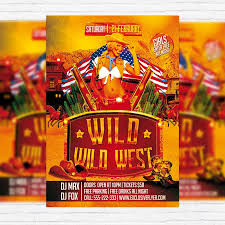 template flyer country free wild wild west party premium psd flyer template exclsiveflyer