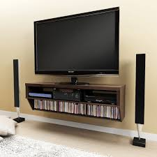 wall mount media cabinet espresso 58 wide wall mounted av console