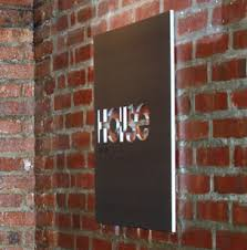 art gallery signs nyc cut vinyl letters show titles artist