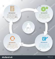 deming cycle organizationp d c diagram stock vector 551212099