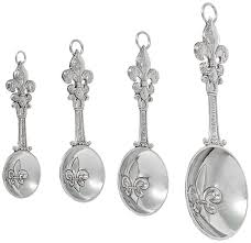 amazon com ganz 4 piece measuring spoons set fleur de lis