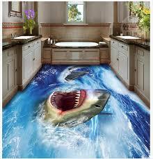 3d bathroom flooring 3d floor painting wallpaper shark 3d floor waterproof wallpaper