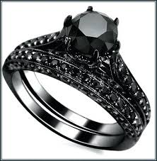 black wedding ring sets black wedding rings for black onyx wedding ring sets