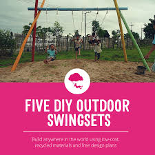 Diy Backyard Playground Ideas Five Diy Outdoor Swingsets Playground Ideas