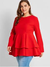 plus size blouse tiered plus size peplum top plus size blouses 4xl zaful