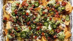 bon appetit kitchen collection fully loaded black bean nachos with and green salsas recipe