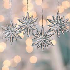 Large Acrylic Christmas Decorations by Small Clear Acrylic Snowflake Ornaments Christmas Ornaments