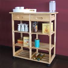 desserte de cuisine en bois à roulettes cuisine 30 accessoires et meubles pour un espace réduit