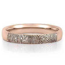 wedding band fingerprint wedding band women s fingerprint on outside of wedding