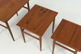 Mid Century Modern Danish Chair Wood Mid Century Modern Danish Nesting Tables 1960s For Sale At Pamono