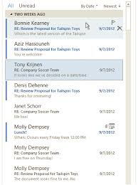 outlook 2013 design outlook 2013 comes with message list improvements