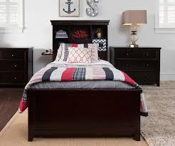 craft furniture boston twin size bookcase bed in espresso finish