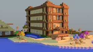 minecraft beach hotel by thejustmine on deviantart