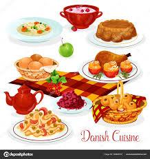 cuisine danoise plats de cuisine danoise pour la conception de menus image