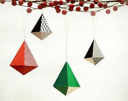 ornaments diy paper decorations set of 6