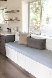 kitchen chronicles upholstered bench seating jenna sue design blog