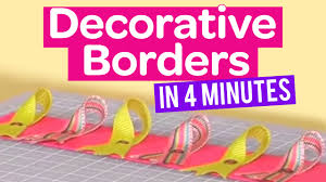 how to create decorative borders in 4 minutes youtube