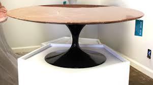 eero saarinen coffee table pink marble top and black tulip base