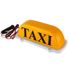 Taxi Light Taxi Cab Top Waterproof Lampmagnetic Car Vehicle Indicator Lights