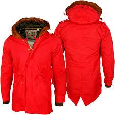 winter coat men red