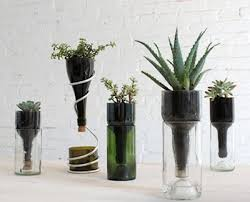 cool wine bottle planter for gardens inhabit zone