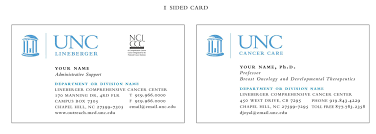 Unc Medical Center Chapel Hill Nc One Sided Business Cards U2014 Unc Lineberger Comprehensive Cancer Center