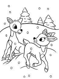 rudolph clarice santas reindeer coloring color luna