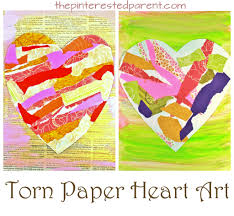 torn paper heart art u2013 the pinterested parent