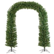 sterling inc 7 5 ft pre lit pine artificial tree arch with