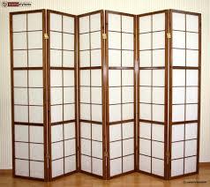 Shoji Screen Room Divider by 6 Part Wood Room Divider Shoji Screen Paravent Wall In Tobacco