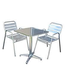 chaise bistrot alu ensemble bistrot m28 aluminium table carrée 2 chaises amazon fr