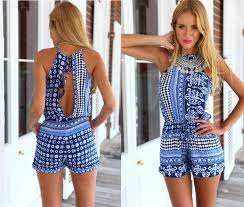jumpsuit shorts open back shorts rompers womens jumpsuit 2015 summer