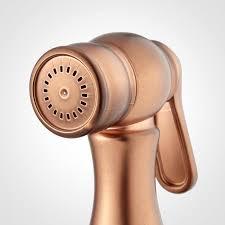 copper kitchen faucet roeblin bridge kitchen faucet with side spray antique copper